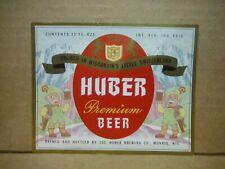 Huber Premium Irtp 12 Oz Beer Label-Jos Huber Brg.,Monroe,Wis.