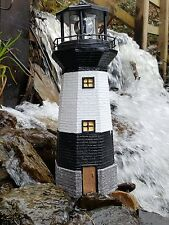 SOLAR POWER LIGHTHOUSE  ROTATING LED GARDEN LIGHT HOUSE DECORATION ORNAMENT