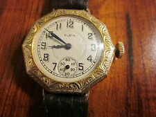 Vintage ELGIN wire lugs wrist watch for ladies,Gold 20 years case by Royal Co