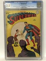 SUPERMAN #33 (DC, 1945) CGC 3.5 Cream to off WHITE Pages!!!!!!