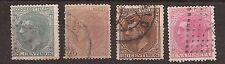 1876 Alfonso XII Edifil 201(º), 202(º), 203(º) y 207(º) VC 25,90€ r