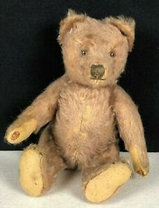 """Antique Steiff Teddy Bear 10"""" Tall Jointed Arms Legs Sewn Nose Claws"""