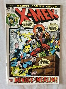 X-MEN #78-THOR GUEST APPEARANCE-MERLIN REVEALED-JACK KIRBY VF/NM 9.0 FREE SHIP!!