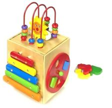 Wooden Toddler Activity Cube
