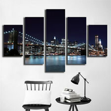 Landscape New York City Painting Picture Canvas Print Home Decor Wall Art Decor