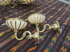 Bronze and Alabaster wall sconces