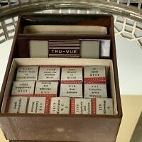 Vintage 1930 3D Tru-Vue Union Box w/ Viewer 13  Film Stereoviews #B1