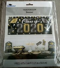 Class of 2020 Banner Sign Graduation party supplies 4ft x 1.66ft