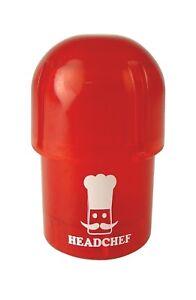 Headchef Pod Grinder / Storage Pot - Water tight - RED