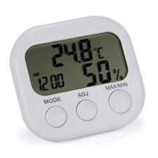 Indoor LCD Digital Hygrometer Thermometer Temperature Humidity Meter Clock UK