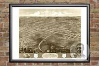 Vintage Independence, MS Map 1868 - Historic Mississippi Art - Old Industrial