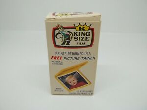 KING SIZE 126 Color Print Film 12 exposures USA New in sealed package expired!