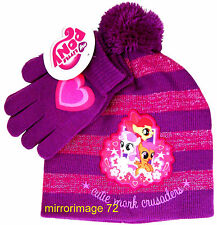 My Little Pony Girls Winter Beanie Knit Hat and Gloves Set - One Size