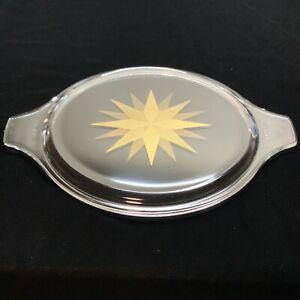 Vintage Pyrex Zodiac Casserole Dish Lid, Gold Starburst, 475-C35 Replacement