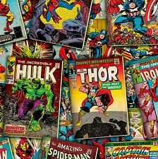 Marvel Comic Book Covers 100% cotton  fabric by the yard