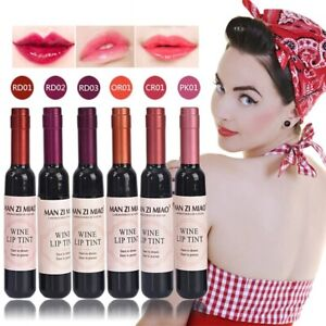 Wine Red Korean Style Tint Baby Pink Lip For Women Makeup Liquid Lipstick