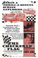 THE CHECKERED FLAG Movie POSTER 27x40 B Joe Morrison Evelyn King Charles G.
