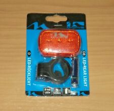 M-WAVE LED REAR BICYCLE LIGHT - RED