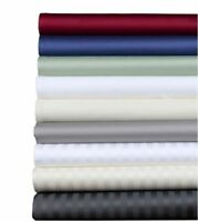 1000TC Egyptian Cotton US Cal King Size All Bedding Items & Solid/Stripe Colors