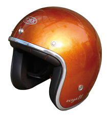 Casque casco helmet jet TORX WYATT orange Taille XL 61 62 CAFE RACER