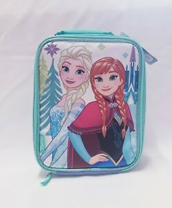 Disney Frozen Insulated Soft Lunch Kit By Thermos-Blue Anna Elsa NEW