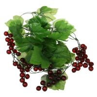 2x Artificial Grape Vine Garland Fruit for Home Garden Decoration P5Z5