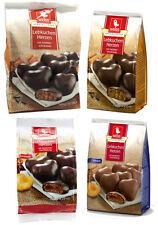Weiss 3x150g +300g Lebkuchen Herzen mit Zartbitterschokolade Aprikose 750g