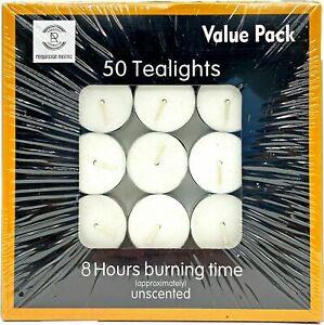 Tea Lights 8 Hour Long Burn Night Light Candles Unscented Tealights 50