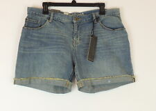 Mossimo Boyfriend Shorts Womens 12 Denim Mid Rise Relaxed NEW