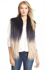 BUFFALO by DAVID BITTON OMBRE FAUX FUR VEST JACKET Sz. M
