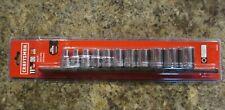 Craftsman 1/2 in. drive SAE 12 Point Socket Set 11 pc. Includes Rack Holder