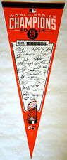 "San Francisco Giants 2014 World Series Champions Signiture Pennant12"" x 30"""