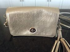 Coach 19908 Legacy Metallic Leather Penny Shoulder Crossbody Champagne - NWOT