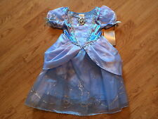 NEW Disney Store CINDERELLA Girls DRESS XS 4 Princess HALLOWEEN COSTUME