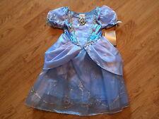 NEW Disney Store CINDERELLA Girls DRESS S 5/6 Princess HALLOWEEN COSTUME
