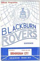 Blackburn Rovers v Birmingham 1966/7 (4 Mar)