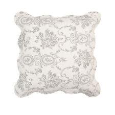 Clayre & eef Pillow Case/ Pillow/ Grey/ White/ Linen 50 X50 Cm Romantic New