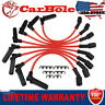 Red Set of 8PCS Spark Plug Wires Set For Chevy GMC 4.8L 5.3L 6L 1999-2006