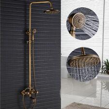 Antique Brass Bathroom Shower Faucet Wall Mount Bath Tub Spout + Hand Spray