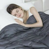 """Premium Weighted Blanket for Adults 72"""" x 48"""" Twin Dark Gray, New"""