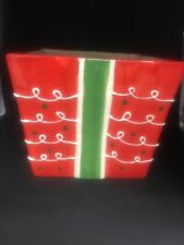 Tii Collections Holiday Ribbon Cookie Jar ( No Lid)