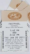 Disney FASTPASS Walt Disney World Fast Pass Ticket Kilimanjaro Safaris 1:42