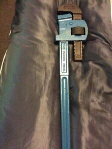 """Record Genuine 24""""  Stilson Type Pipe Wrench,v Good Used Condition."""