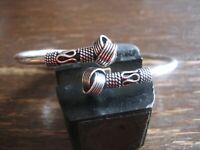 geschmackvoller Vintage Modernist Armreif Armspange 925er Silber Knoten Details