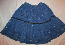 60's vintage rockabilly pin up bluegrass guitar banjo print swing skirt M
