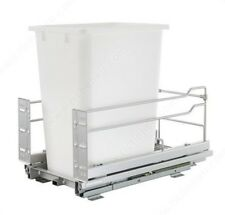 36 Qt. Single Pullout Trash Organizer Full Extension Soft Close System with Bin