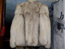 Blue Fox Fur Jacket Coat full pelts Size x small/small
