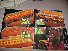 Michael Jordan Chicago Bulls Basketball Ball Park Franks Hot Dogs SIGN LARGE NEW
