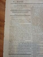 Death of Thomas Jefferson July 8 1826 Washington DC Newspaper Front Page report!