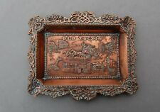 Old Tucson Arizona Copper Ashtray Vintage Famous Movie Location Set Scenes 6 1/2